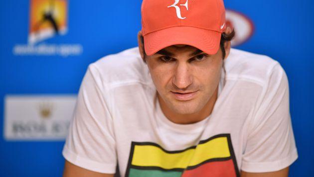 Roger Federer: Zwangspause nach Knie-Operation (Bild: APA/AFP/PETER PARKS)