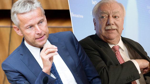 ÖVP-Klubchef Lopatka hat mit seinen Ideen nicht nur Bürgermeister Häupl gegen sich aufgebracht. (Bild: APA/GEORG HOCHMUTH, APA/HANS KLAUS TECHT)