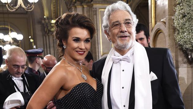 Olga Peretyatko und Placido Domingo (Bild: APA/HELMUT FOHRINGER)
