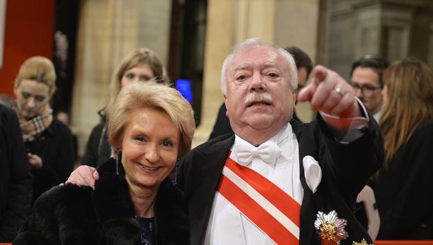 Wiens Bürgermeister Michael Häupl und Barbara Hörnlein (Bild: APA/HERBERT NEUBAUER)