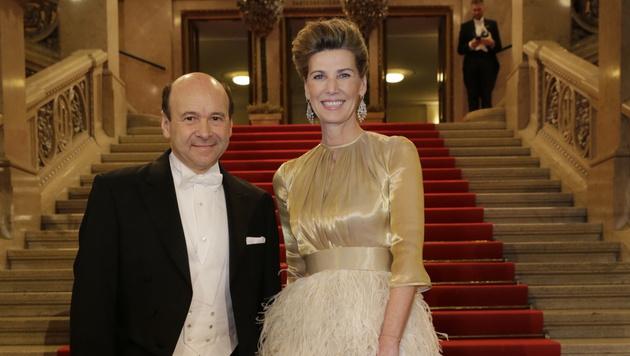 Zum letzten Mal im Einsatz: Desiree Treichl-Stürgkh mit dem Herrn der Staatsoper, Dominique Meyer (Bild: Klemes Groh)