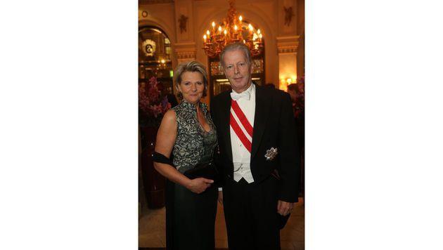 Reinhold Mitterlehner und seine Frau Anna Maria (Bild: Peter Tomschi)