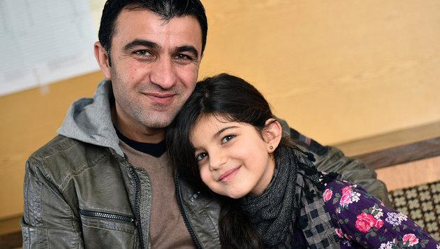 Dunja und ihr Papa glücklich vereint (Bild: Markus Wenzel)