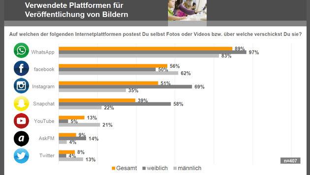 So inszeniert sich Österreichs Jugend im Internet (Bild: Saferinternet.at)