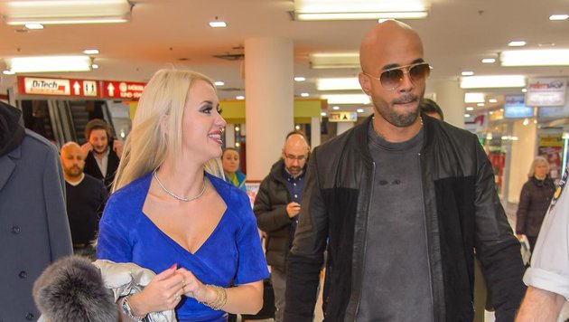 Cathy Lugner mit Mr. Probz (Bild: Viennareport)