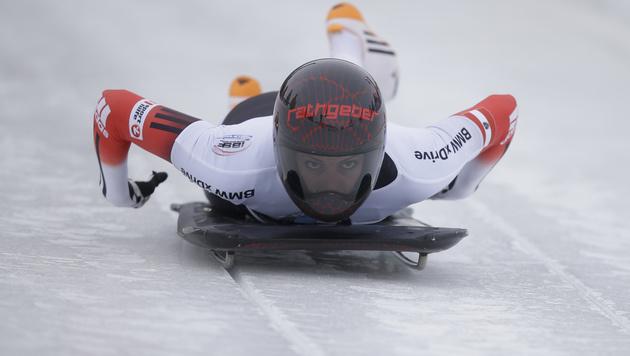 Janine Flock holt in St. Moritz zweiten EM-Titel (Bild: AP)