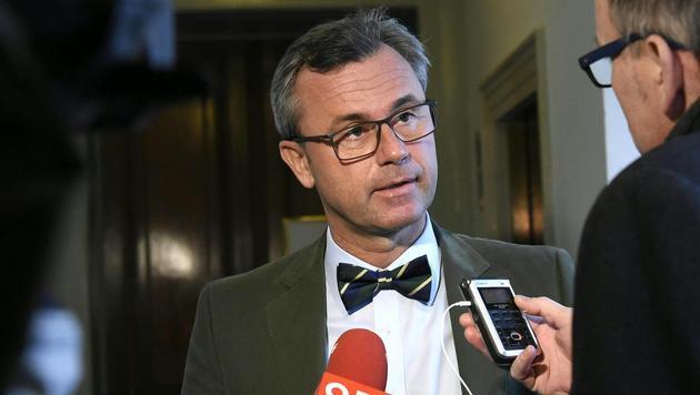Norbert Hofer für EU-Austritt Österreichs (Bild: APA/HELMUT FOHRINGER)