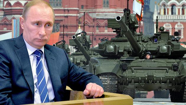 Russen k�nnten Baltikum in 60 Stunden erobern (Bild: DMITRY KOSTYUKOV/AFP/picturedesk.com, AP)