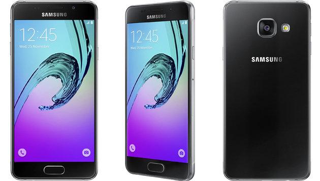 Galaxy A3 und A5 sind zwar verschieden groß, sehen aber ansonsten identisch aus. (Bild: Samsung)
