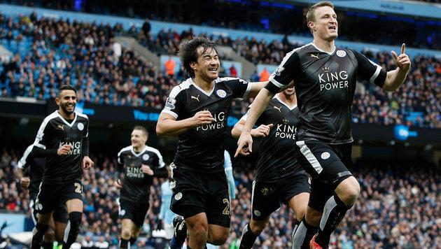 3:1! Fuchs-Klub Leicester paniert sogar ManCity (Bild: APA/AFP/ADRIAN DENNIS)
