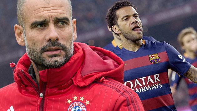 "Barca-Star: ""Bayern hat Guardiola nicht gefallen!"" (Bild: APA/AFP/dpa/MATTHIAS BALK, APA/AFP/LLUIS GENE)"