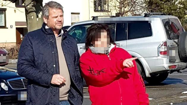 Barbara Sch. mit Ex-B�rgermeister Gerhard K�fer (Bild: KK)