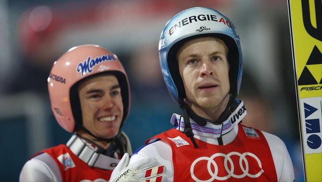 Stefan Kraft (links) und Michael Hayböck (Bild: GEPA)
