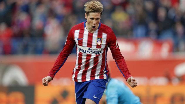Video: 100. Torres-Tor für Atletico bei 3:1-Sieg (Bild: AP)