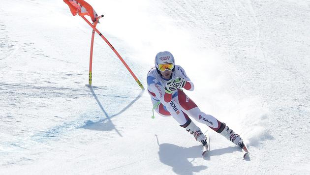 Kriechmayr rast bei Janka-Sieg aufs Podest (Bild: AP)