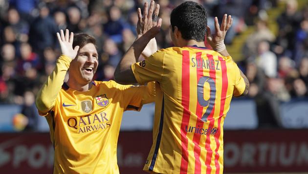 Barcelona müht sich zu 2:0-Sieg gegen Levante (Bild: AP)