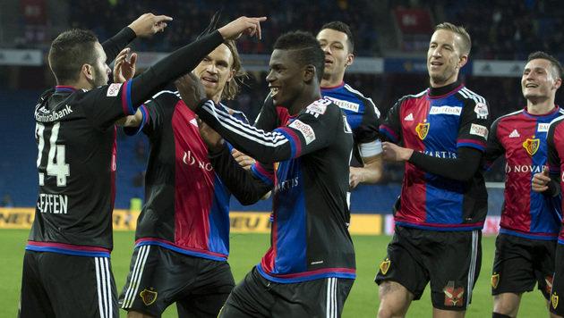 Janko & Basel besiegen Jantscher & Luzern mit 3:0 (Bild: APA/KEYSTONE/GEORGIOS KEFALAS)