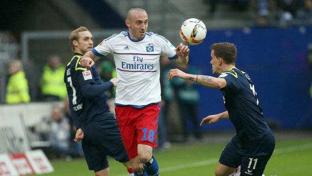 """Stögers """"Narren"""" erkämpfen Punkt beim HSV (Bild: APA/dpa/Christian Charisius)"""