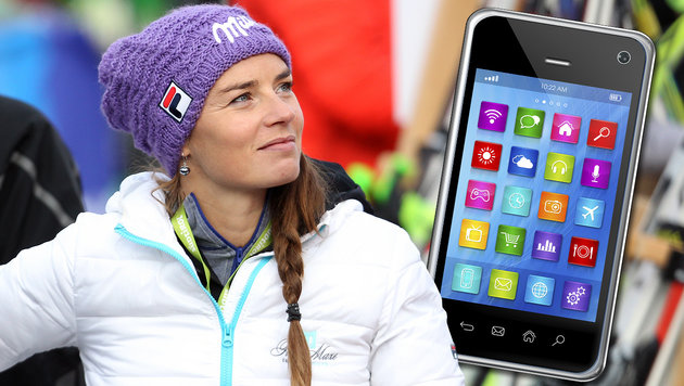 Tina Maze gibt Smartphones Teilschuld an St�rzen (Bild: GEPA, thinkstockphotos.de)