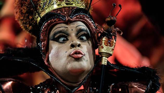 Farbenrausch und viel nackte Haut in Rio (Bild: APA/AFP/YASUYOSHI CHIBA)
