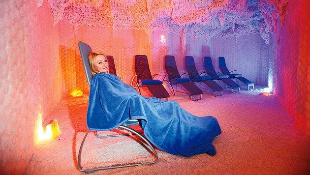Entspannung pur in der Salzgrotte (Bild: Reinhard Holl)