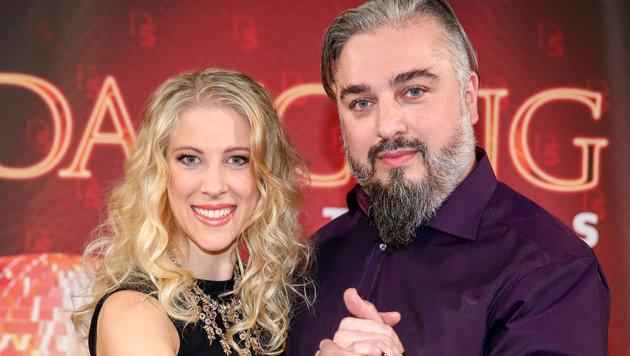 """Georgij Makazaria mit Maria Santner: """"Gehe davon aus, dass ich bis zum Auftritt weniger werde."""" (Bild: ORF)"""