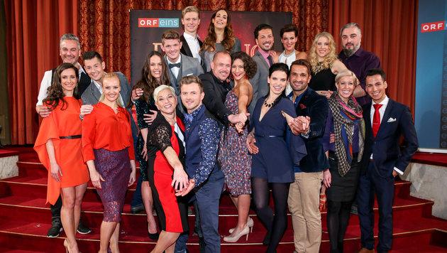"""Die """"Dancing Stars"""" mit ihren Tanzpartnern (Bild: ORF)"""