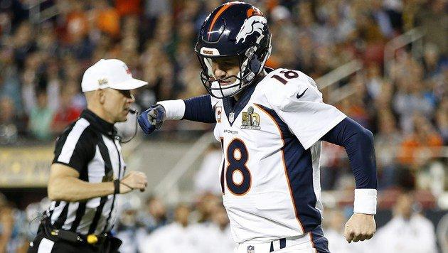 Manning blieb vieles schuldig, gewann aber als erster Quarterback mit zwei Teams den Super Bowl. (Bild: 2016 Getty Images)
