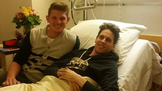 Morgenstern besucht Lukas Müller im Krankenhaus (Bild: facebook.com)