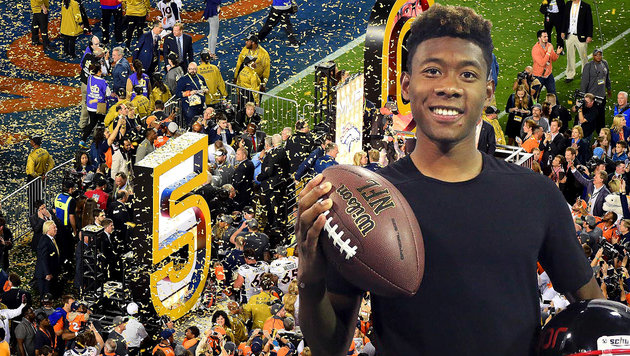 So feierten die Stars das Super-Bowl-Spektakel (Bild: APA/AFP/GETTY IMAGES/Harry How, facebook.com/David Alaba)