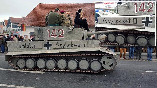 "Staatsanwalt ermittelt wegen ""Asylabwehr""-Panzer (Bild: Florian Simbeck)"