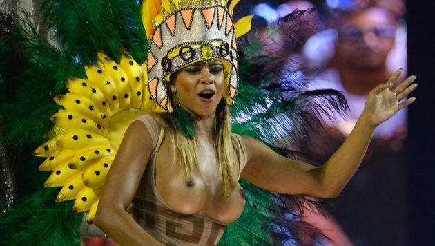 Farbenrausch und viel nackte Haut in Rio (Bild: APA/AFP/VANDERLEI ALMEIDA)