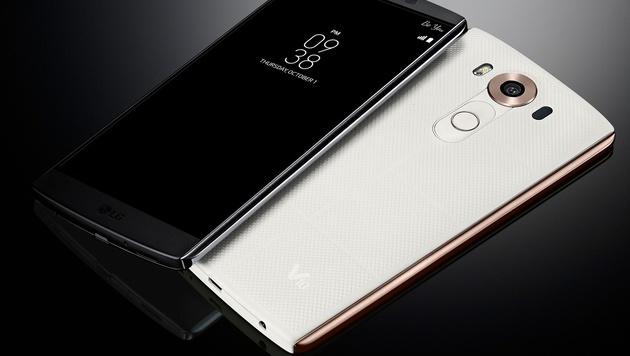 Die Tasten für Ein/Aus, Lautstärke sowie der Fingerabdrucksensor befinden sich auf der Rückseite. (Bild: LG)