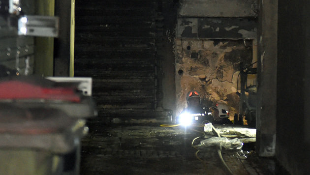31 Verletzte bei Großbrand in Wien-Favoriten (Bild: APA/HERBERT P. OCZERET)