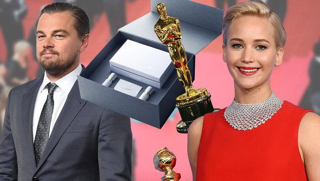 275-$-Klopapier und Sextoys für Oscar-Nominierte (Bild: APA/AFP, APA/AP, AFP/picturedesk.com, josephs-toiletries.com, AP)