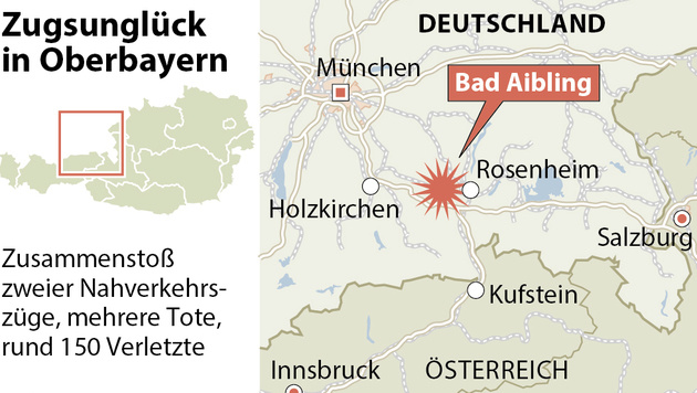 Unvorstellbar: Opfer filmte Minuten nach Zug-Crash (Bild: APA)