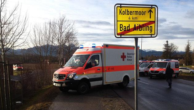 Unvorstellbar: Opfer filmte Minuten nach Zug-Crash (Bild: APA/dpa/Paul Winterer)