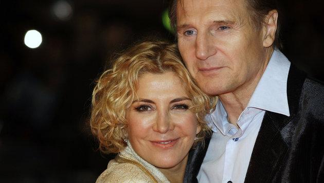 Liam Neeson mit seiner verstorbenen Frau Natasha Richardson (Bild: AP)
