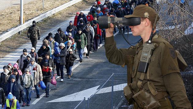 Der Einsatz des Bundesheeres an unseren Grenzen d�rfte neuerlich verst�rkt werden. (Bild: APA/HBF, APA/Erwin Scheriau)