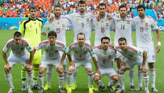 Die spanische Nationalmannschaft bei der WM 2014. (Bild: GEPA)
