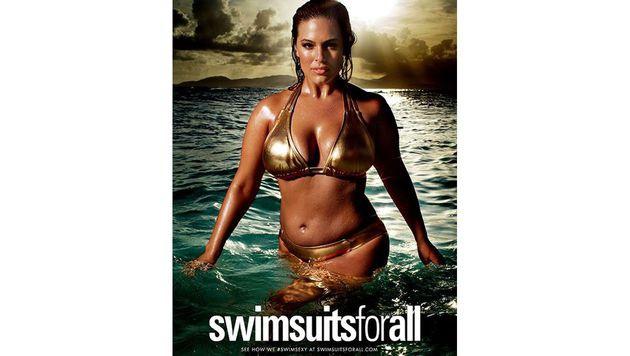 Ashley Graham beweist: Auch jenseits der 34 kann frau sexy sein. (Bild: Swimsuits for All)