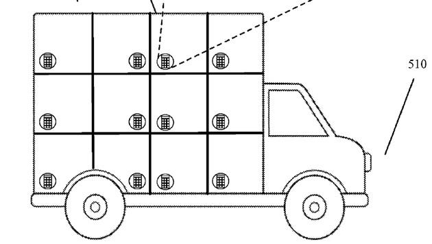 Google-Wagen soll Pakete autonom zustellen (Bild: uspto.gov)