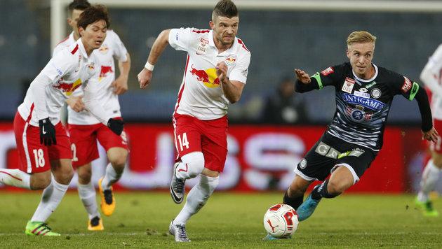 Red Bull Salzburg stürmt über Sturm ins Halbfinale (Bild: APA/ERWIN SCHERIAU)