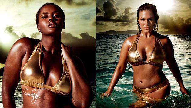 Neben Ashley Graham hat es auch Philomena Kwao in die Kampagne von Swimsuits for All geschafft. (Bild: Swimsuits for All)