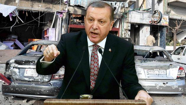 Der t�rkische Pr�sident Erdogan schloss die Grenze zu Syrien. (Bild: APA/AFP/ADEM ALTAN, APA/AFP/SANA/STRINGER)