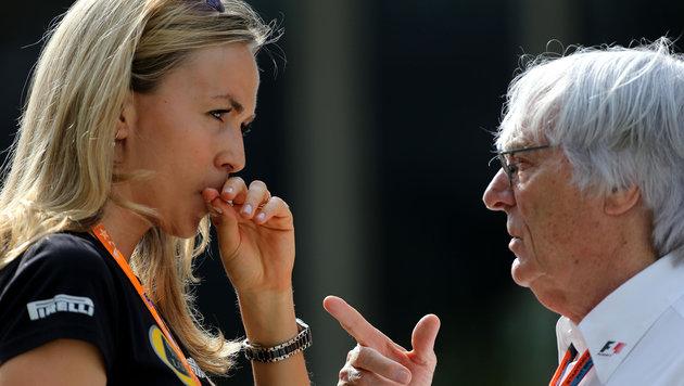 Carmen Jorda mit Bernie Ecclestone (Bild: GEPA)