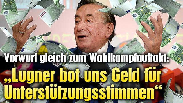 """""""Lugner bot uns Geld f�r Unterst�tzungsstimmen"""" (Bild: APA/ROLAND SCHLAGER, thinkstockphotos.de)"""