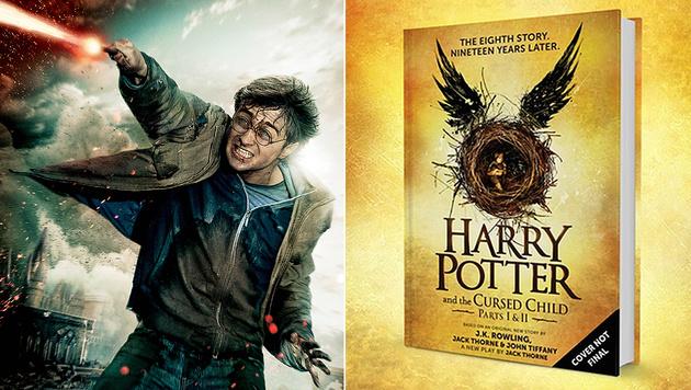 "Das neue ""Harry Potter""-Buch kommt im Juli in den Buchhandel. (Bild: Viennareport, twitter.com/Scholastic)"
