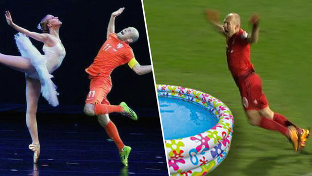 Robben-Flugshow erheitert wieder einmal das Netz (Bild: twitter.com)