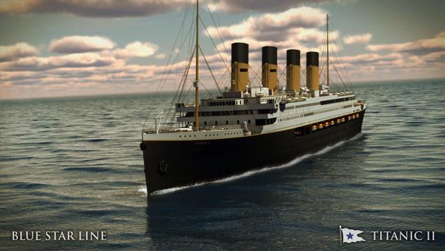 """So wird die """"Titanic II"""" von außen aussehen. (Bild: AP)"""
